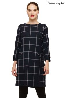 Phase Eight Blue Hermione Check Dress
