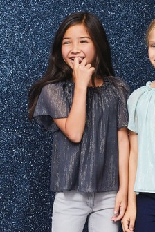 Stripe Metallic Blouse (3-16yrs)