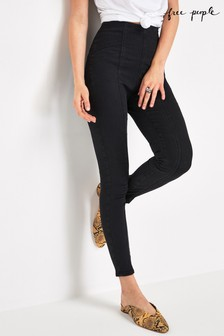 Free People Black Feel Alright Skinny Jeans