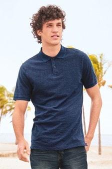 Рубашка поло с геометрическим узором