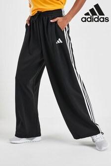 adidas Black Wide Leg Joggers