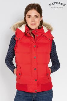 FatFace Red Heritage Gilet