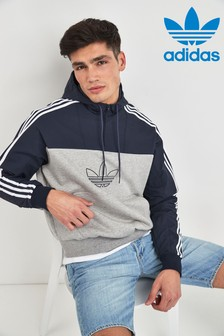 adidas Originals Grey/Black Mixed Overhead Hoody