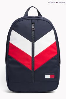 Tommy Hilfiger Blue Chevron Backpack