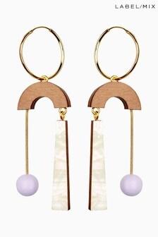 Mix/Wolf & Moon Cascade Hoop Earrings