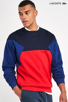 Lacoste® Navy/Red Colourblock Jumper