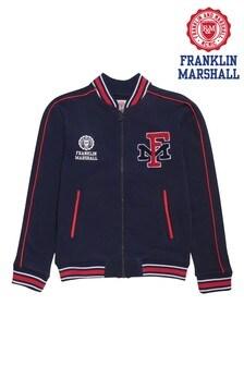 Franklin & Marshall Blue Bomber Varsity Jacket