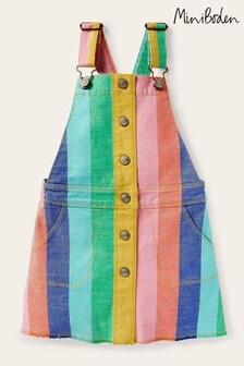 Boden Pink Button Through Dungaree Dress