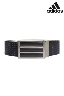 adidas Golf Black 3 Stripe Perforated Reversible Belt