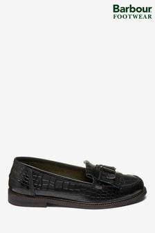 Barbour® Black Olivia Tassel Loafer