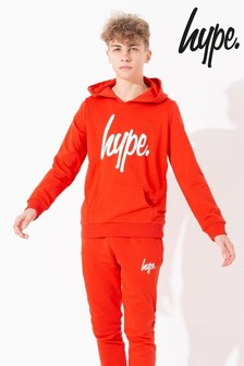 Hype. Red Script Kids Pullover Hoody