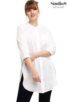 Studio 8 White Alison Linen Shirt