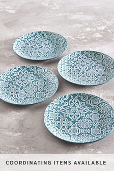 Set of 4 Embossed Side Plates