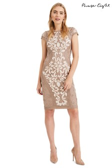 Phase Eight Cream Perdy Tapework Dress