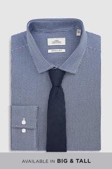 Mini Gingham Shirt And Tie Set