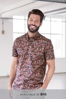 Camisa con estampado de cachemir