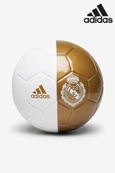 adidas White Real Madrid FC Mini Football