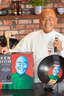 4 Piece Ken Hom Wok Set