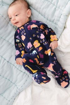 Character And Rainbow Fleece Sleepsuit (0mths-3yrs)