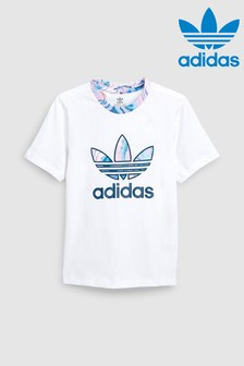 adidas Originals Little Kids White Marble Trefoil Tee