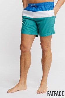 FatFace Green Daymer Colourblock Swimmers