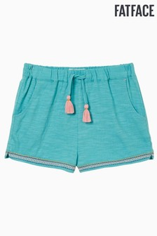 FatFace Blue Jersey Embroidered Shorts