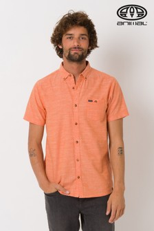 Animal Orange Fleck Short Sleeve Shirt