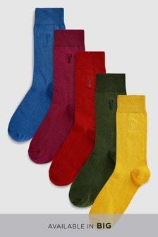 Пять пар носков с вышивкой