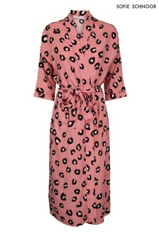Розовое кимоно с леопардовым принтом Sofie Schnoor