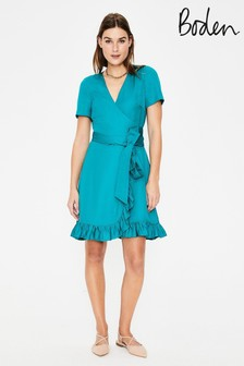 Boden Blue Federica Wrap Dress
