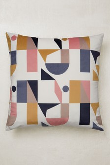 Irregular Geo Velvet Cushion