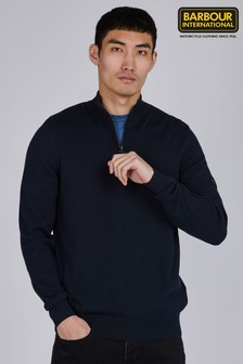 Barbour® International Cotton Half Zip Jumper