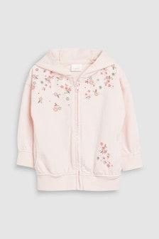 Embellished Zip Through Hoody (3mths-7yrs)