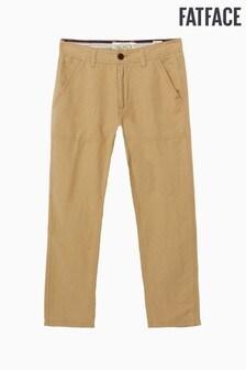 FatFace Natural Cotton Linen Trouser