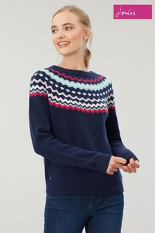Joules Whitley Nordic Knit Fairisle Jumper