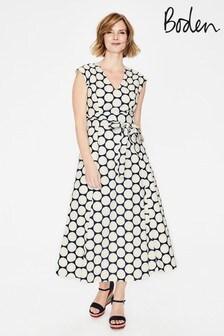 فستان متوسط الطول أزرق Tori من Boden