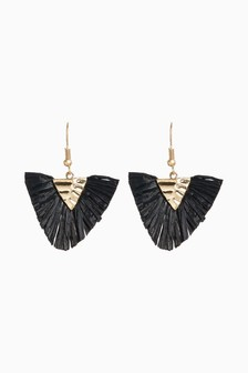 Straw Small Statement Earring