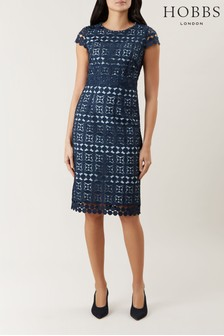 Hobbs Navy Mabelle Lace Dress