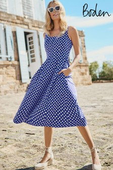 Boden Blue Sabina Midi Dress