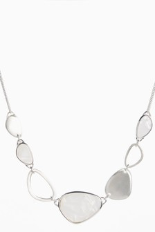 White Stone Statement Necklace
