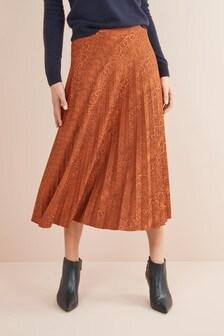 Jacquard Pleat Skirt