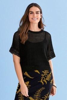 Crochet Knit Look Top