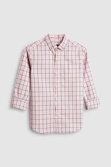 Рубашка в клетку с длинным рукавом (3-16 лет)