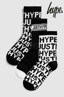 Hype. Black Mono Socks Three Pack