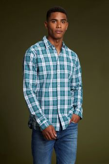 Tommy Jeans Green Check Shirt
