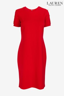 Lauren Ralph Lauren Red Ponte Dress
