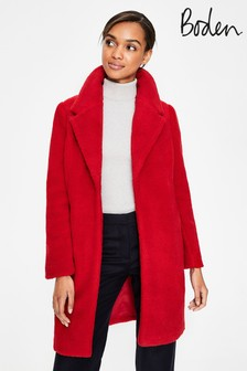 Boden Red Hereford Coat