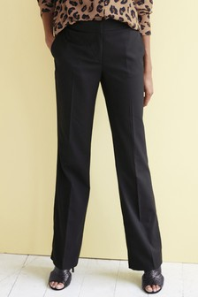 NEXT TROUSERS LADIES RRP£42 MIX BLACK BOOTCUT TAILORED WORK WEAR 2 LENGTHS 163