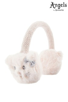 Angels By Accessorize Pink Fluffy Cat Earmuffs