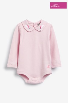 Joules Pink Snazzy Luxe Collared Bodysuit